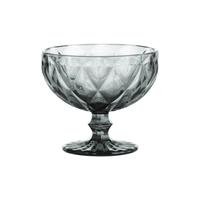 Gemstone Smoke ijscoupe op voet uit glas grijs Sundae