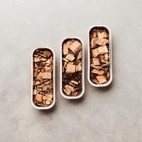 3 Arten Räucherchips Eiche, Whiskey und Rotwein FSC