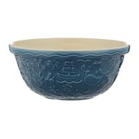 Nautical mengkom uit aardewerk blauw
