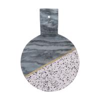 Elements serveerplank met handvat uit terrazzo en marmer 35x25x5cm