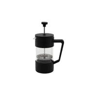 French Press Kaffeebereiter aus Glas schwarz 350ml