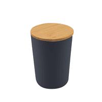 Aufbewahrungsbox medium aus PLA mit Bambusdeckel dunkelgrau